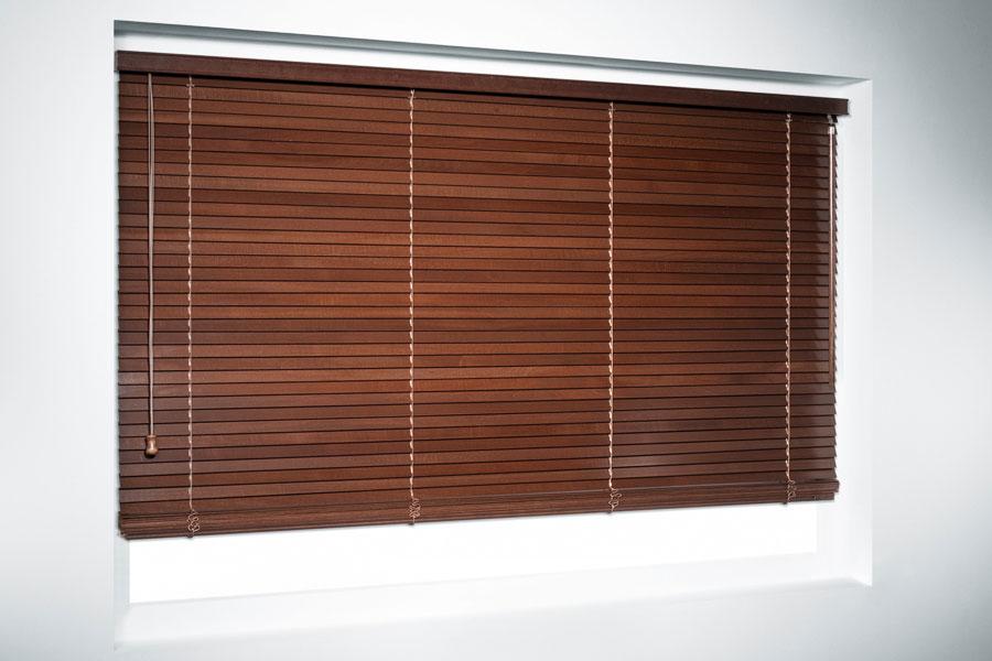 Żaluzja pozioma drewniana 25 mm